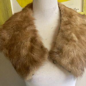 Vintage fur collar trim for coat of sweater